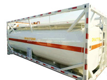 20FT ISO Tankcontainer 18-21CBM HCl (max. 35%), NaOH (max. 50%), NaCLO (max. 10%), PAC (max. 17%), H2SO4 (60%, 98%), HF (48%), H 3 PO 4 (10% –85%), NH 3. H2O, H2O2 (30%) usw