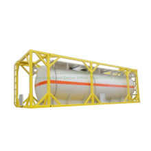 Customized Isotank 30FT Chemline Lined Tank for HCl, Naoh, Naclo, PAC, H2so4, Hf, H3po4, Nh3. H2O, H2O2 Solution