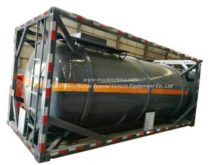 20FT Hydrochloric Acid ISO Tank Container 16KL -20KL Steel Tank Lined LDPE 16mm